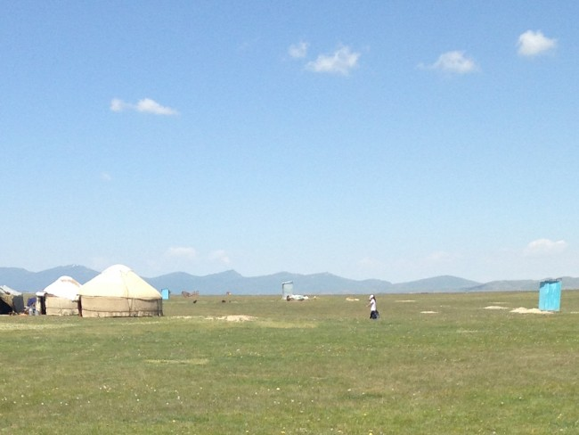 photo of a yurt on green grass