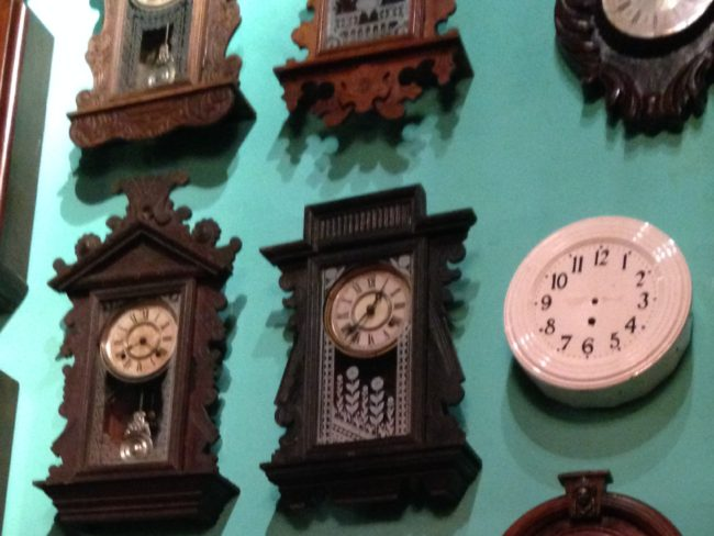 clocks on a wall